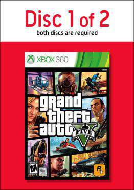 Grand Theft Auto V - Disc 1, Game on XBOX360, Action Video Games, ,  on XBOX360