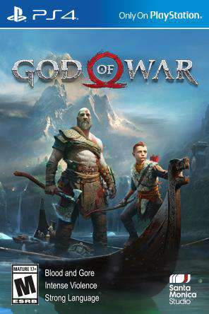 God of War, Game on PS4, Action