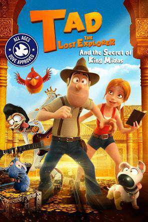 Tad the Lost Explorer and the Secret of King Midas, Movie on DVD, Comedy Movies, Action Movies, Animated
